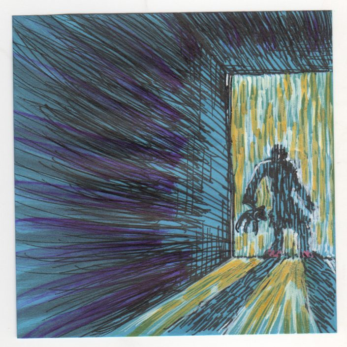 Post-It Note Illustration - Hallway