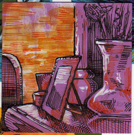 Post-It Note Illustration - Still Life