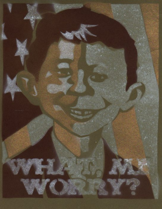 Spray Paint Poster - Alfred E. Neuman