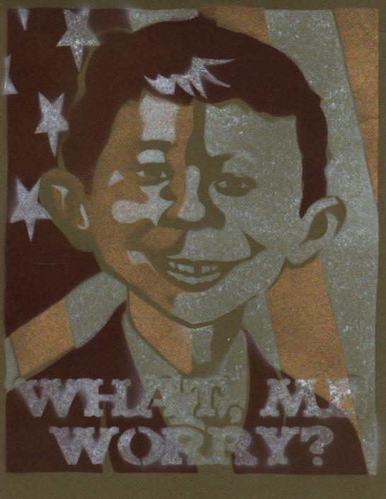 Spray Paint Poster - Alfred E. Neuman