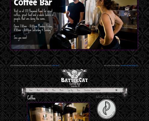 Web Design for BattleCat Coffee