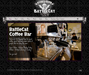 Asheville NC Web Design for BattleCat Coffee Bar