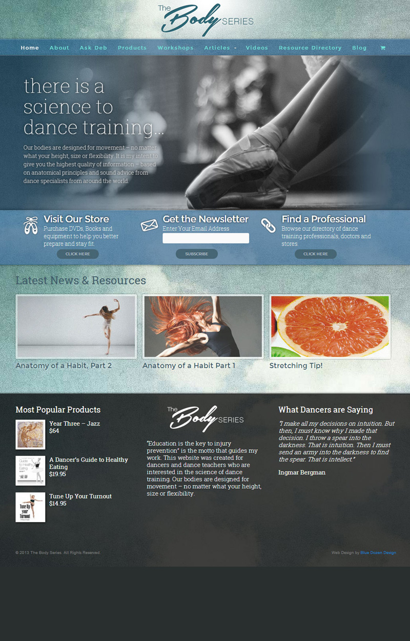 Web Design for The Body Series