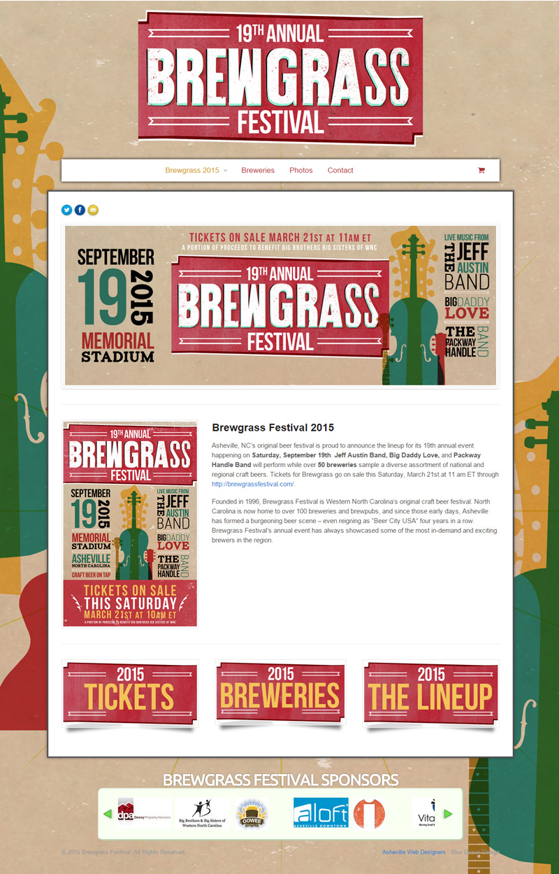 Web Design for Brewgrass Festival