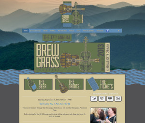Asheville Web Design for Brewgrass Festival