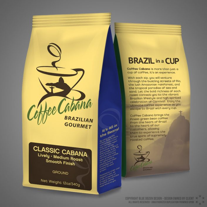 Coffee Bag Design for Coffee Cabana Brazil