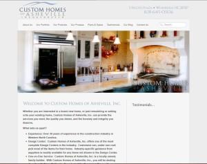 Website Design in Asheville, NC for Custom Homes of Asheville