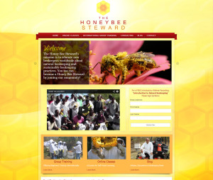 Asheville Website Design for Honey Bee Steward