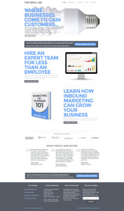 Web Design for The Idea Lab