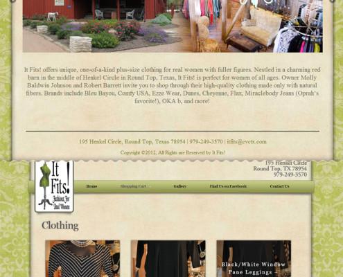 Web Design for It Fits! Boutique