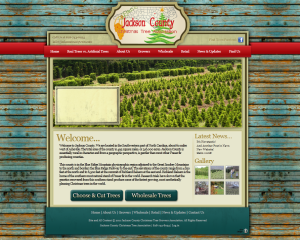 Asheville Web Design for Jackson County Christmas Tree Association