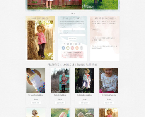 WordPress Web Design for LilyGiggle.com