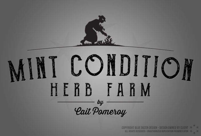 Logo Design - Mint Condition Herb Farm by Cait Pomeroy