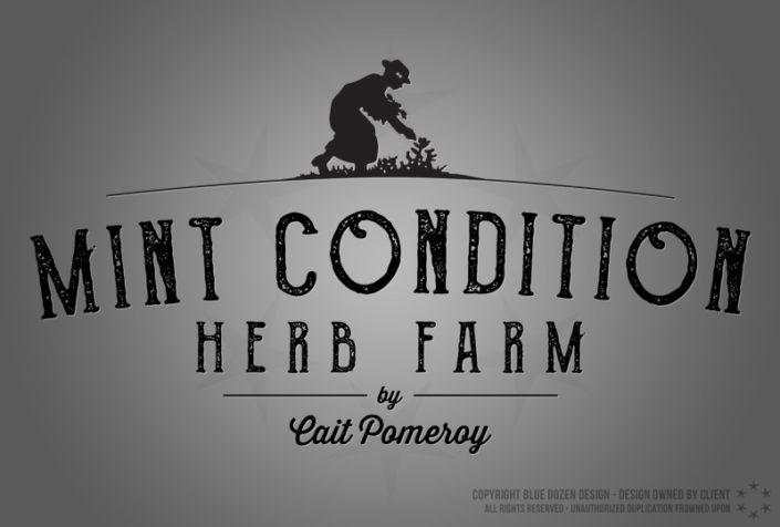 Logo Design - Mint Condition Herb Farm by Cait Pomeroy