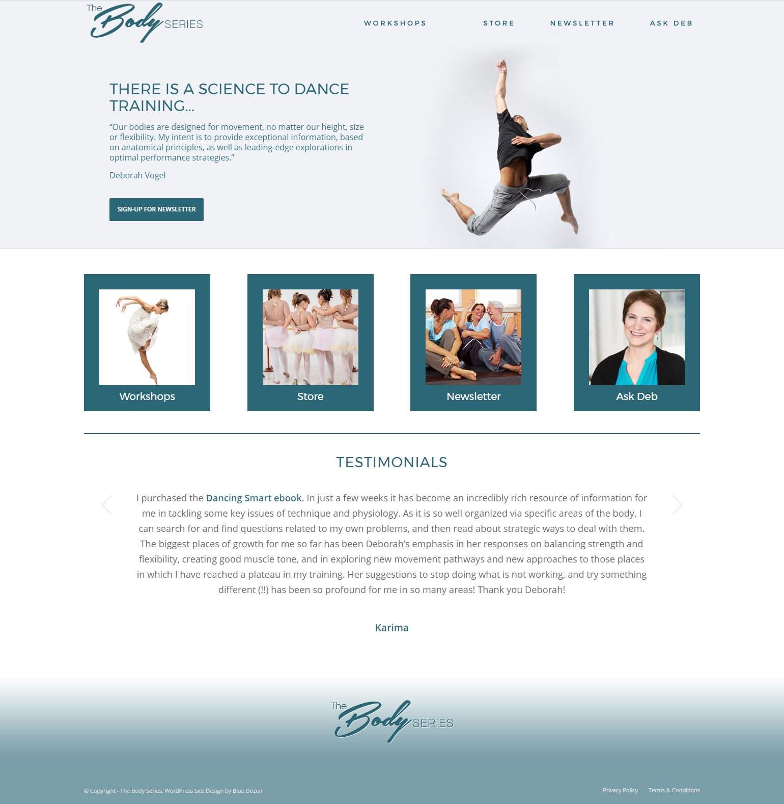 The Body Series Website Design & Development