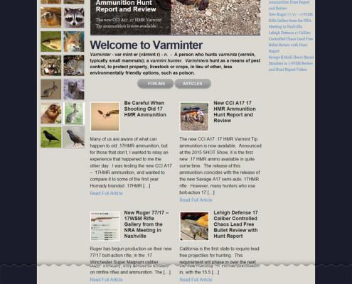 Web Design for Varminter