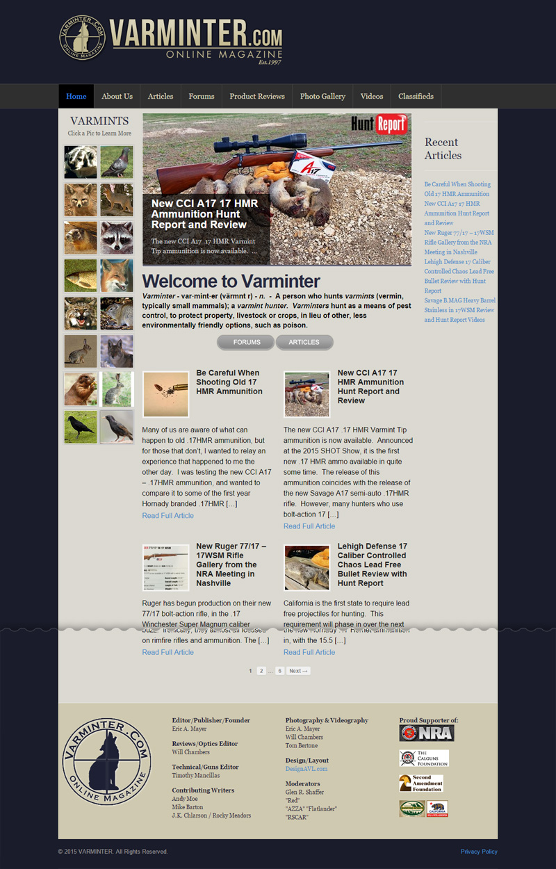 Web Design for Varminter