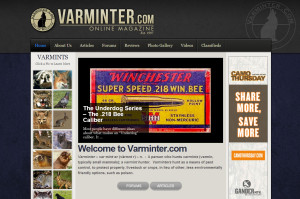 Asheville Web Design for Varminter Online Magazine