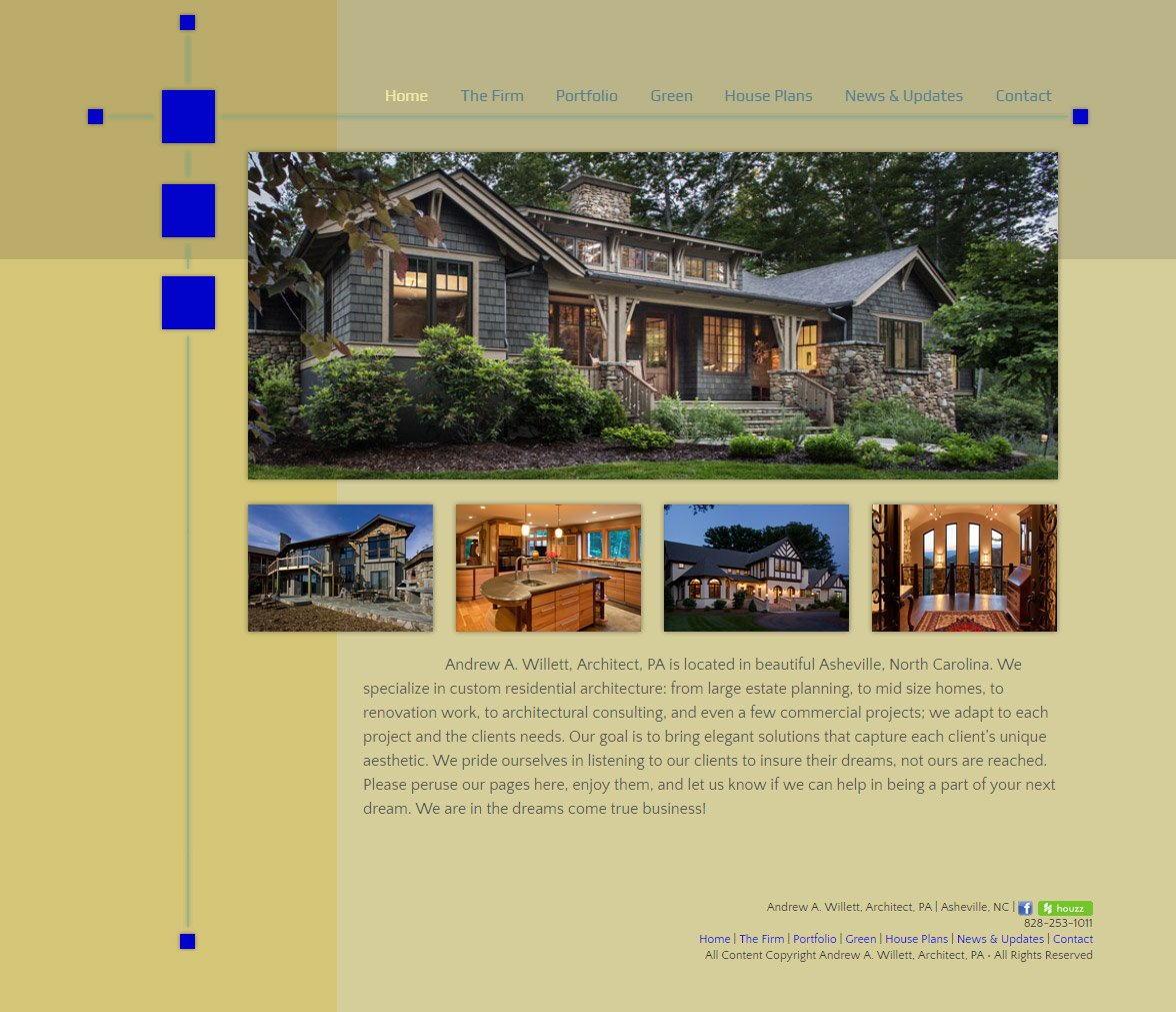 Web Design for Andrew Willett Architect