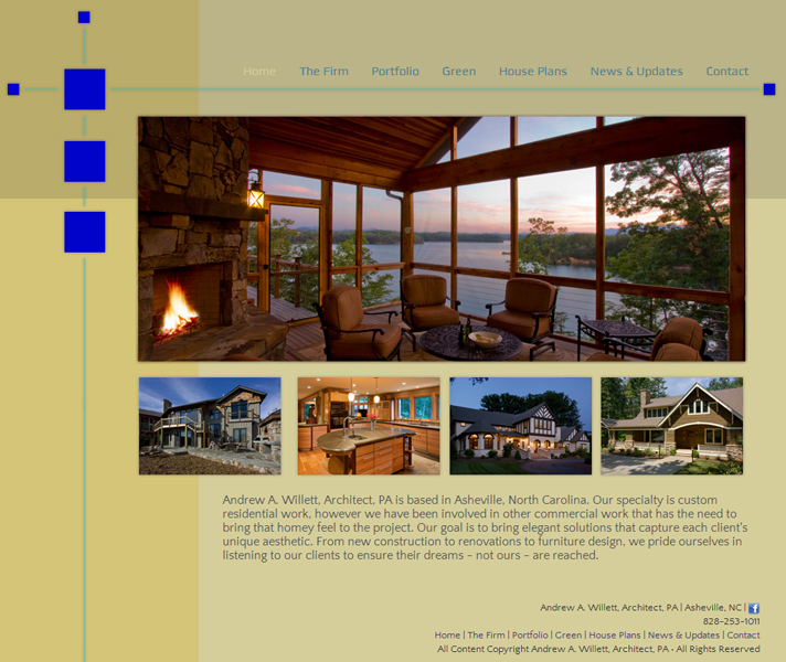 Web Design for A. Willett Architect