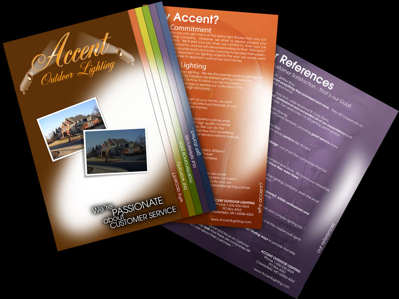 Accent Home Lighting Brochure Design