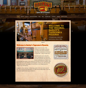 Asheville Web Design for Barley's Taproom and Pizzeria