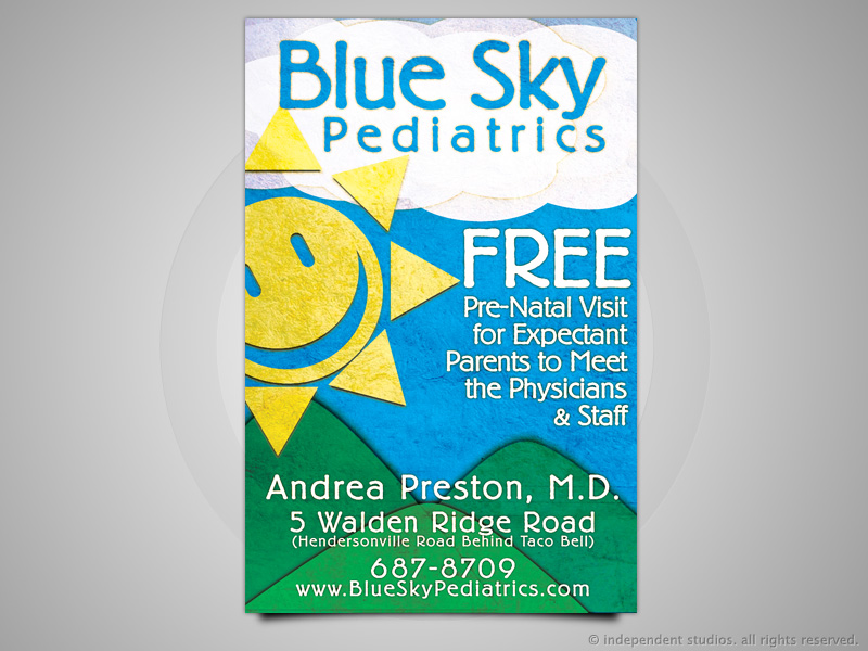 Blue Sky Pediatrics Ad Design