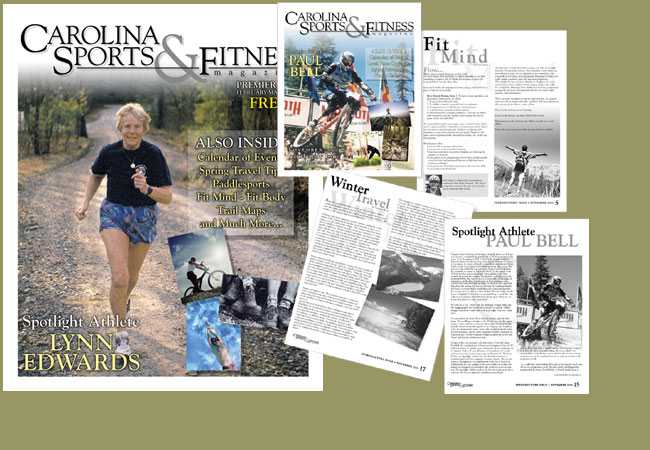 Magazine Design for Carolina Sports & Fitness