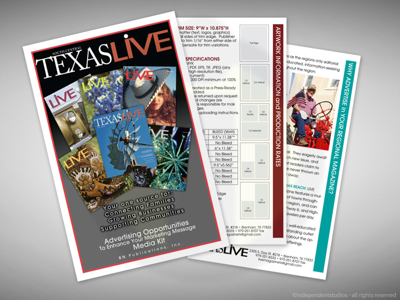 Brochure Design for Texas Live
