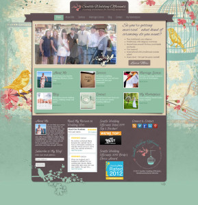 Asheville Web Design for Seattle Wedding Officiants