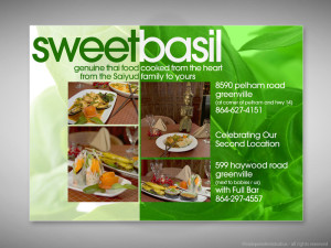 Sweet Basil Magazine Ad Design