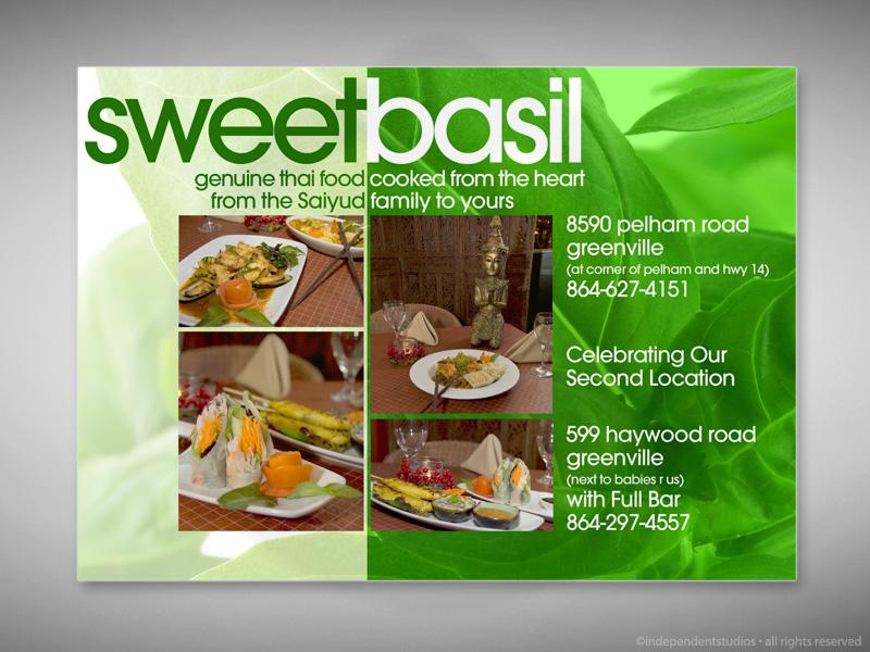 Sweet Basil Magazine Ad Design