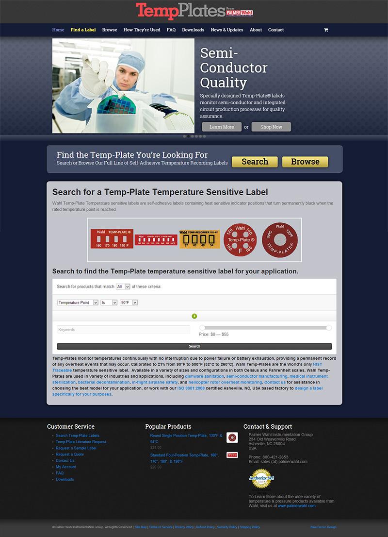 Asheville Website Development for Wahl TempPlates