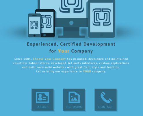 Web Site Design for Choose Your Company
