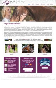 Web Design for Neigh Savers Foundation