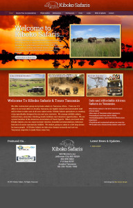 Web Design for Kiboko Safaris
