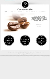 WordPress and Woocommerce site for Penny Cup Coffee Co