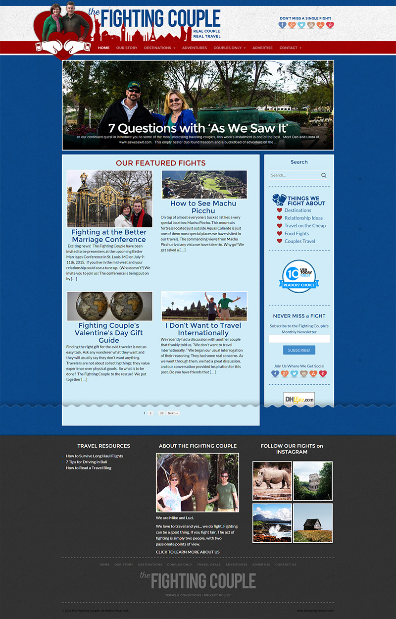 WordPress Site Design for 1000Fights.com