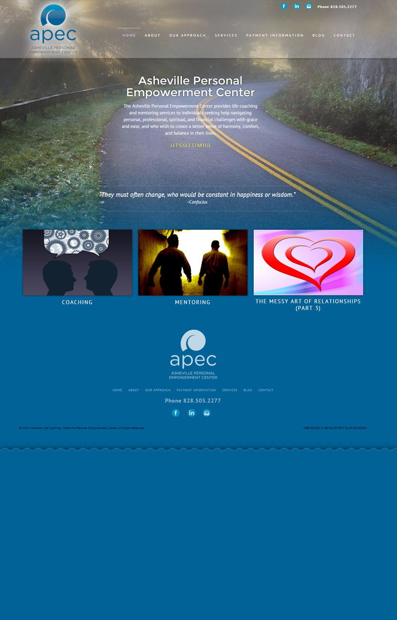Web site design for APEC