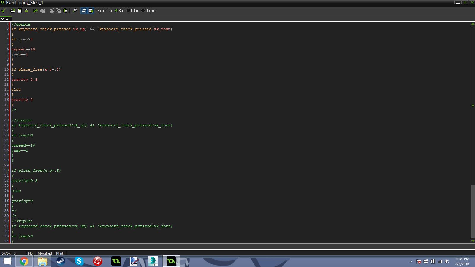 A very simple platforming script.