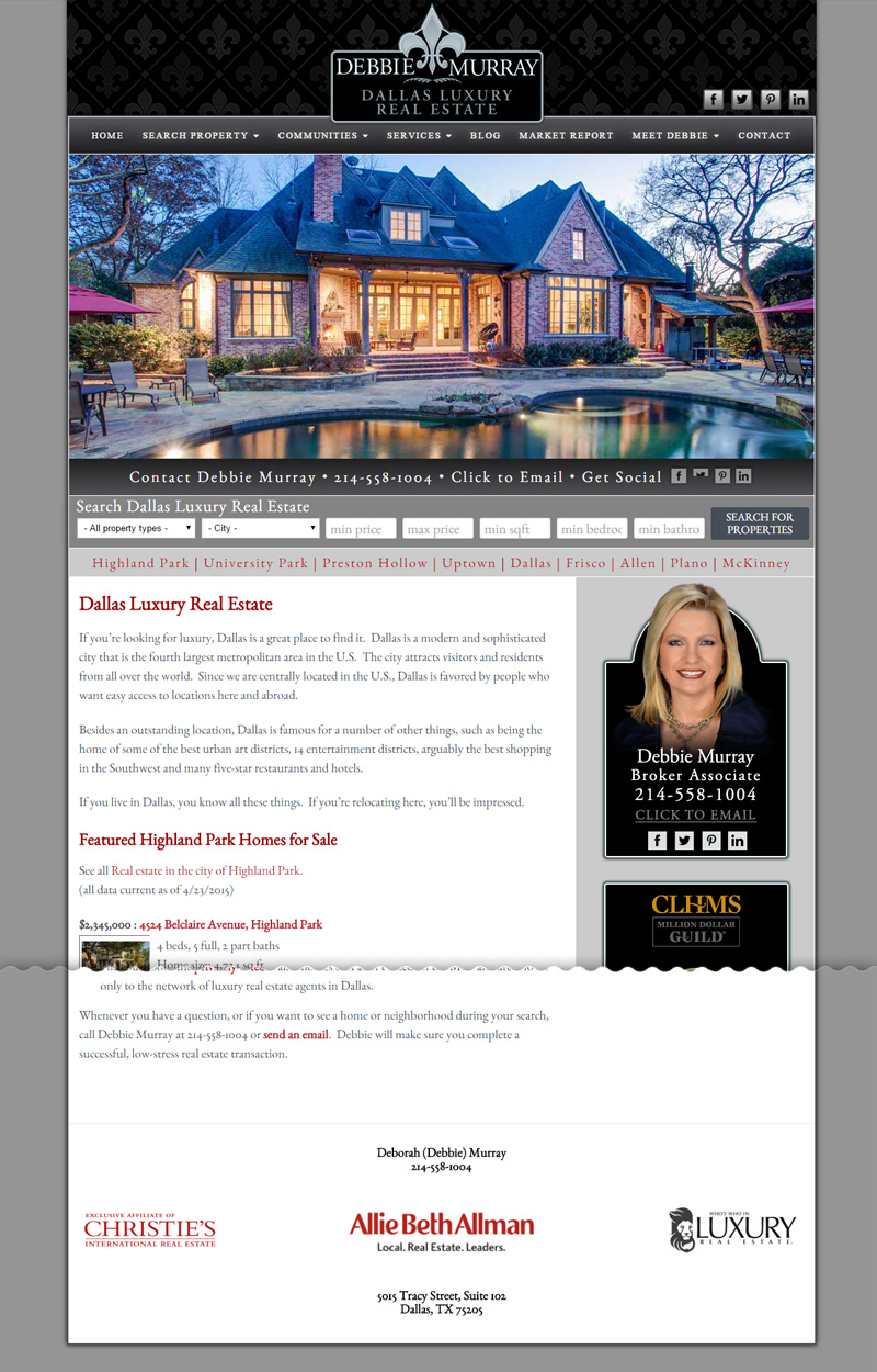 Web Design for Debbie Murray Real Estate