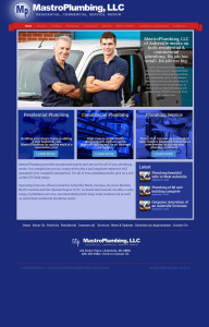 Web Design for Mastro Plumbing