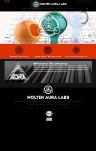 Web Design for Molten Aura Labs