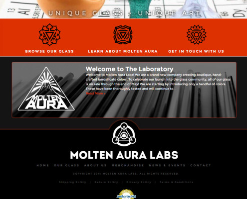 Web Design for Molten Aura Labs