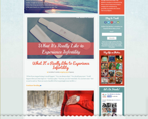 Web Design for One Mother to Another