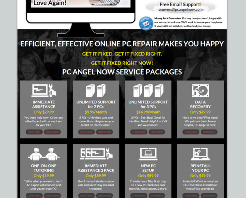 Web Design for PC Angel Now