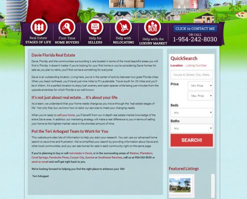 Web Design for Teri Arbogast Real Estate