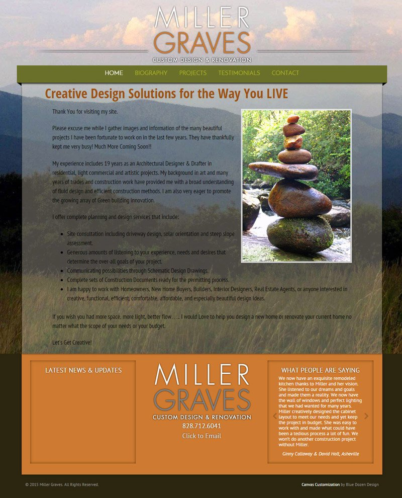 Website Design for Miller Graves