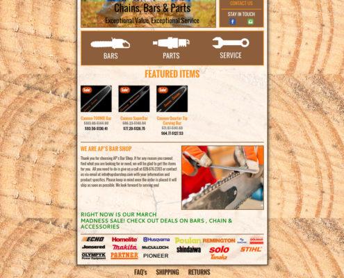 Web Design for AP's Bar Shop