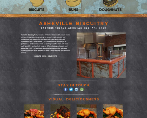 Web Design for Asheville Biscuitry